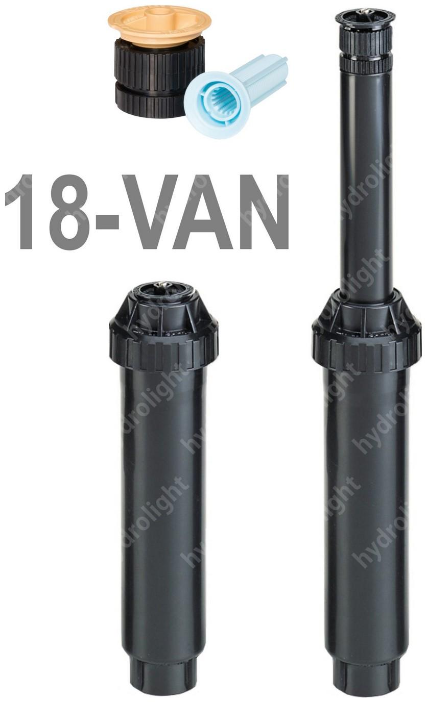 UNI-SPRAY szórófej 10 cm + 18 VAN fúvóka, R=5.4 m