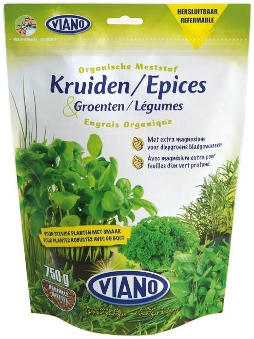 VIANO BIO szerves növénytáp FŰSZERNÖVÉNY, 0,75 kg