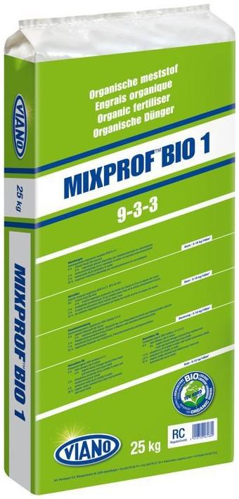 VIANO szerves gyeptáp MIXPROF BIO1 9-3-3, 25 kg