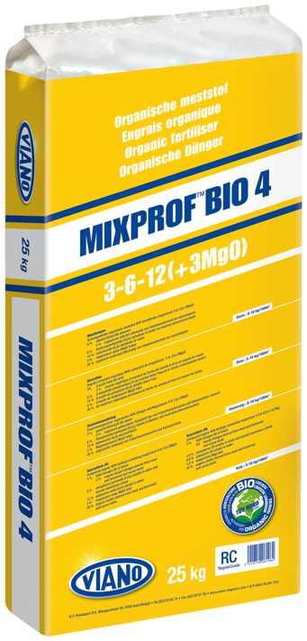 VIANO szerves táp MIXPROF BIO4 3-6-12 +3MgO, 25 kg